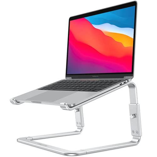 OMOTON Supporto Laptop Regolabile, Supporto PC Portatile Aggiornato, Laptop Stand 3 Livilli di Altezza, Porta Solleva Computer, Supporto per Macbook, Lenovo, Acer, DELL, Notebook (11-15.6 ), Argento