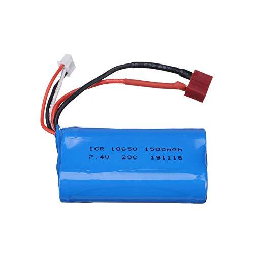 Grehod Batería Lipo de 7,4 V 1500 mAh 12423 12428 para Wltoys 12401 12402 12402A batería de Coche sobre orugas 1500 mah batería de Litio de 7,4 V Enchufe T 1pcs