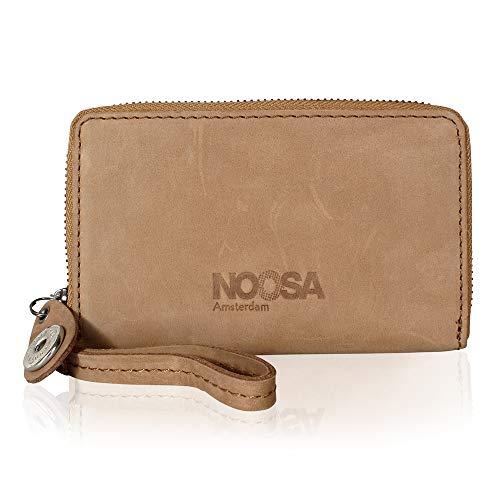 Noosa Mobile Leder Geldbörse Tan