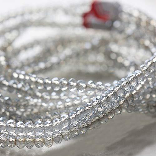 SuoSuo GWTRY 4 * 3 mm de los Granos del Cristal de Rondelle Facetas de Porcelana Lariat Collar de Joyas Pendiente del Espaciador Accesorios Pulsera (Color : Nude)
