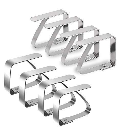 Tischdeckenklammer Wachstuchtischdecke Garten Tischklammern Tischdecken Clips Edelstahl Tischtuch Clips 8 Stück für Desktop