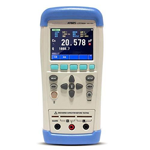 lifebea Analizador Detector de Gas Precisión Medidor LCR Multímetro AT825 10KHz L C R Q D Z Theta ESR Tester Pantalla LCD táctil USB AC100-240V Tester Detector de Gas para propano