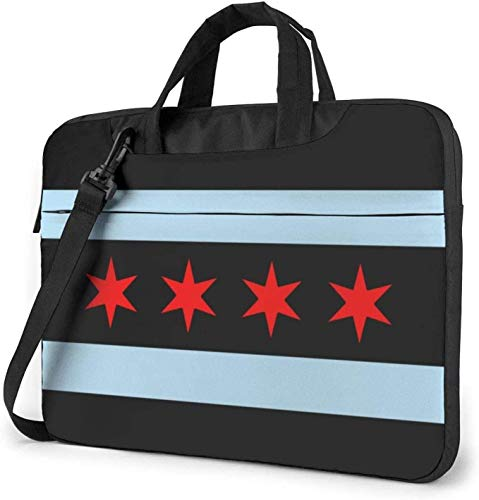 Chicago Flag Laptop Bag Shockproof Briefcase Shoulder Bags Carrying Case Laptop 15.6 Inch