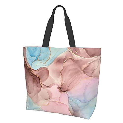 Bolsos de hombro para mujer Senderismo Sling Bag Casual Tote, 4 mezclas de ondas transparentes y espirales dorados, Talla única