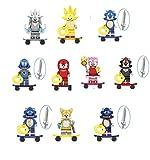 10 piezas – Sonic The Erizo Figures Bloques de construcción (Sonic, Amy Rose, Shadow, Metal Sonic, Nakkurusu, Plata, Teirusu, Super Sonic – Compatible con LEGO