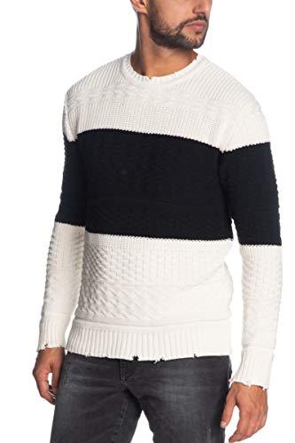 Imperial Pullover Girocollo Uomo Panna/Nero