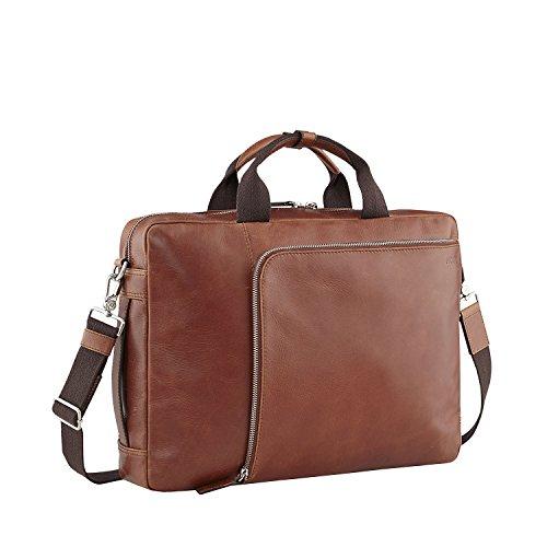 Picard Buddy Aktentasche aus Leder mit Reissverschluss, Laptoptasche, 2 Henkel, verstaubare Schultergurte - Businesstasche 31 x 42 x 10 cm (H/B/T) Herren/Damen (4505)
