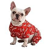 CuteBone Dog Pajamas Christmas Tree Branches Dog Apparel Dog Jumpsuit Pet Clothes Pajamas P18S