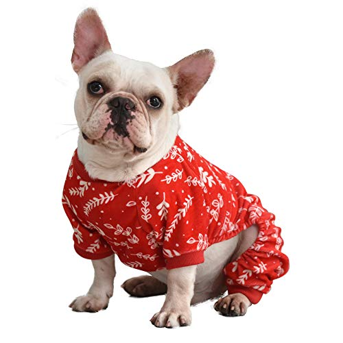CuteBone Hunde-Pyjama, Weihnachtsbaumzweige, Hundebekleidung, Hunde-Overall für Haustiere, P18XS