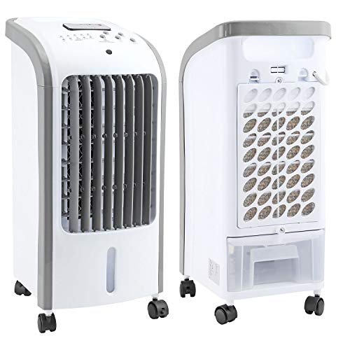Taylor & Brown? 80W Portable Evaporative Air Cooler with Remote Control, 3 Fan Speeds, 7.5 Hour Timer and 4 Litre Water Tank for Home or Office Use