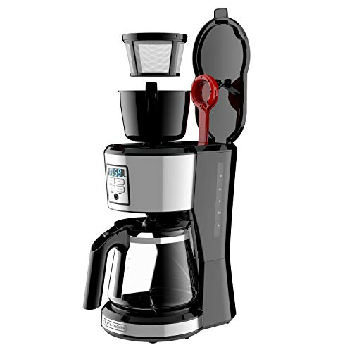 BLACK + DECKER 12 Cup Programmable Coffee Maker in Stainless Steel, CM1231SC