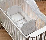 Piccoletto Riduttore Lettino neonato bebè | colore BIANCO | Mini Culla Neonato Primi mesi Antisoffoco + Materassino&Cuscino OMAGGIO