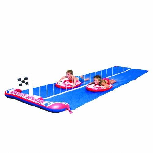 Bestway 52113B - Dash'n Splash Ralley Pro, scivolo acquatico per bambini, 488 cm, con 2 tavole da surf