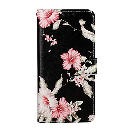 Yagook Funda de piel sintética de estilo retro con diseño de mármol, funda de piel sintética, funda de silicona compatible con Samsung Galaxy S20 FE, diseño de flores