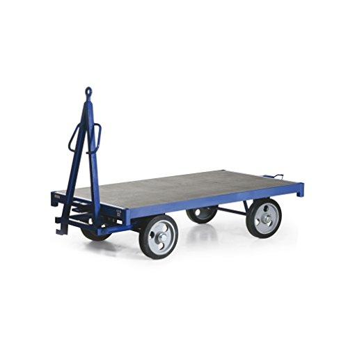 Protaurus Industrie-Anhänger, Traglast 1500 kg, Ladefläche 2000x1000 mm, Vollgummiräder, einfach Drehschemel-Lenkung