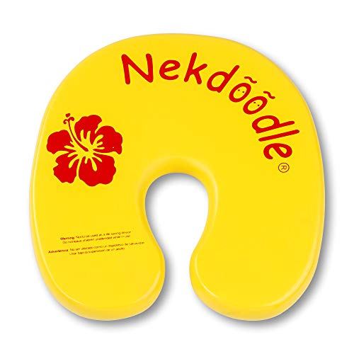 Nekdoodle Swimming Pool Float For Aqua Aerobics & Fitness - Water Training & Exercises - Fun & Recreational Pool Toy - Fits Adults and Kids - Yellow Hibiscus
