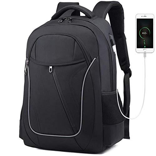 Business Backpack Men Multifunction Luggage Bags Large Capacity Laptop Backpack Waterproof Oxford Schoolbag for Students-Black