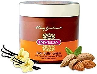 Inveda Body Butter Cream 100% Rejuvenating Almond & Vanilla For All Skin 100ml