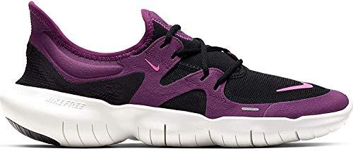 Nike Free RN 5.0 Women's Running Shoe Black/Pink Blast-True Berry Size 6.5