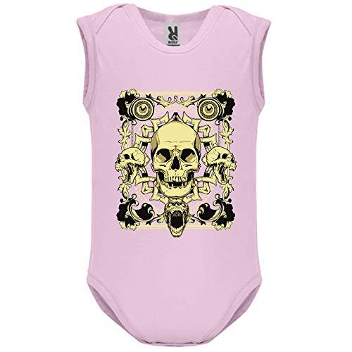 LookMyKase Body bébé - Manche sans - Last Smile - Bébé Fille - Rose - 12MOIS