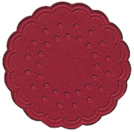 Tassenuntersetzer  - Ø 7,5 cm, bordeaux, 25 Stück
