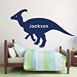 Wini2342ckey Dinosaur Vinyl Wall Decals - Personalized Hadrosaurus for Boy s Room, Playroom Decoration- Christmas Decor Sticker Gift