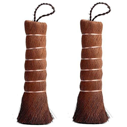 Tamkyo Hogar Ambientalmente Matcha Escoba de Matcha de Encimera Cepillo de Te Escoba de Limpieza Cepillo de Te, 2PCS