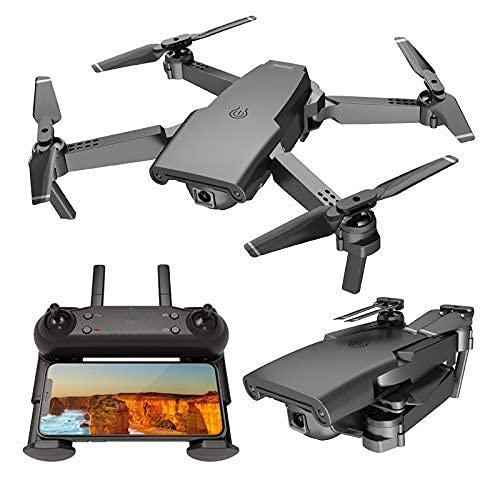 Droni 4K con Doppia Fotocamera (16 Milioni + 8 Milioni di Pixel Ultra Nitidi), Quadricottero Rc con Posizionamento del Flusso Ottico, Una Chiave di Spegnimento/Atterraggio, 2 Batterie
