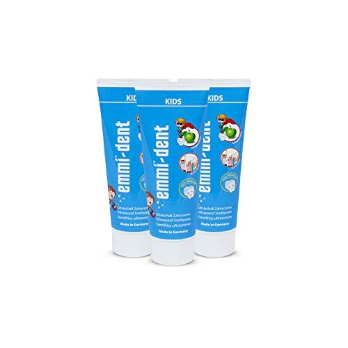 emmi®-dent Zahnpasta für Ultraschallzahnbürsten – Kids – für Kinder, mit Sogwirkung, 75 ml (3 Stück)