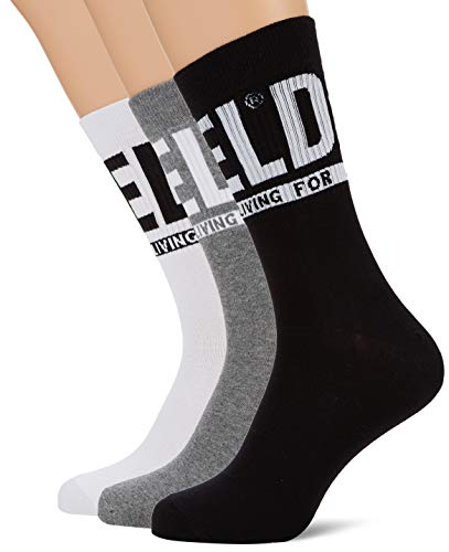 Diesel Herren Socken SKM-RAY-THREEPACK (3er Pack), Schwarz (Black/Black/Black E3843-0Qatv), 35/38 (Herstellergröße: Small)