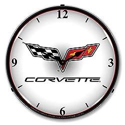 C6 Corvette 14 LED Lighted Wall Clock