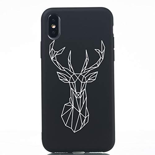 Wdckxy HNZZ - Funda protectora de TPU para iPhone X (color: Milu ciervo)