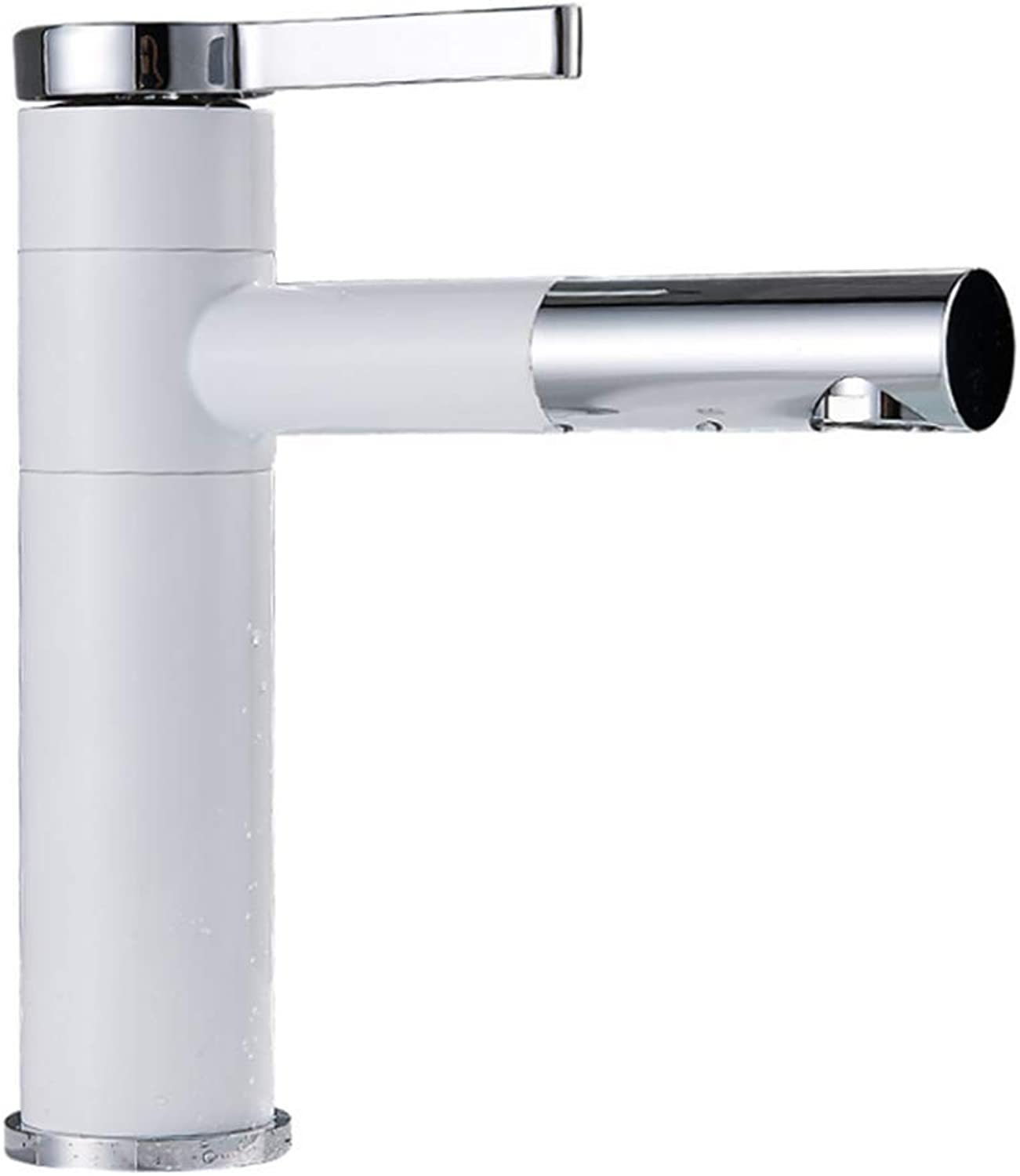 Kitchen Taps Faucet Modern Kitchen Sink Taps Stainless Steel304 Stainless Steel Basin Faucet Single Hole Toilet Hand Wash Basin Cold and Hot Water Faucet