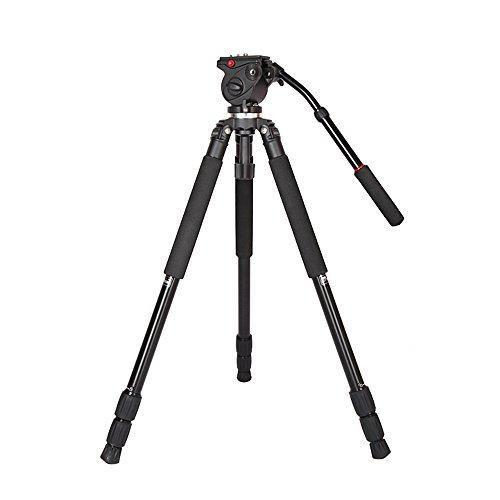Andoer JY0509A Stativ aus Aluminiumlegierung, für DSLR-Fotografie, Kamera, Camcorder, Video-Stativ mit flüssigem Zugkopf