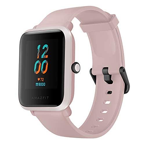 Amazfit Bip S Smartwatch Reloj Inteligente Fitness Rastreador con Monitor cardíaco y Gimnasia batería útil de 40 días duración Sumergible 5 ATM Bluetooth 5.0 / BLE Andriod iOS (Rosa)