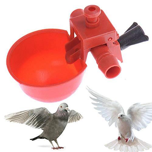 Gifftiy Balkongeländer Holz Vogelhaus Balkongeländer Automatische Geflügeltränke Vogeltränke Vogeltränke Anhänger Tränke -10Pcs_Without_Screws