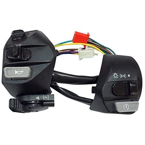 SODIAL Interruptores de Motocicleta de 22 Mm, BotóN de Encendido/Apagado, Manillar, Bocina de Control, Interruptor de Arranque de SeeAl de Giro para Mio LC135