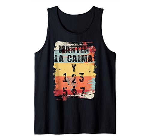 Mantén la calma y baila salsa Camiseta sin Mangas
