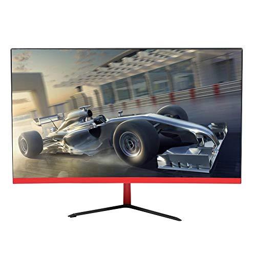 LCD-Bildschirm, Game Curved-Bildschirm mit V-förmiger schwarz-roter Metallbasis, 23,8-Zoll-PC-Monitor, LED-Hintergrundbeleuchtung und Dcr Intelligent Dynamic High Contrast-Technologie(EU-Stecker)