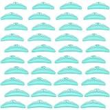 40 Almohadillas de Rizador de Pestañas Permanente Almohadillas de Silicona de Pestañas Permanente Reutilizables 5 Tamaños Varillas Levantar Pestañas Herramienta de Belleza Maquillaje, Verde