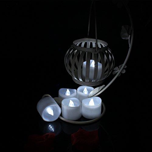 Advocator 24pcs kühlen weiße batteriebetriebene Kerzen, flackernde flammenlose LED-Teelichter, LED-Kerze für Hochzeits-Geschenk ab Votivhalter, elektrischer Wärmer