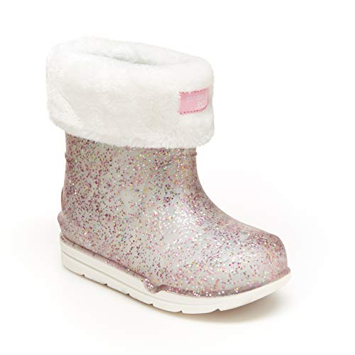 Stride Rite 360 Girls Bellamy Boot Snow, SILVER, 7 Little Kid