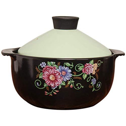 L.TSN Olla de cerámica esmaltada Tagine Olla de Cocina de Alta Temperatura...