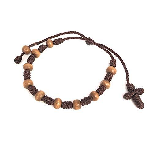Unisex Pray Decade Handmade Brown String Rosary...