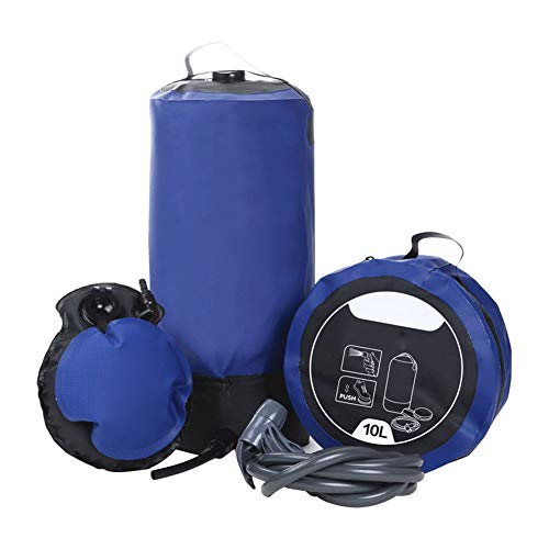 AJDGL - Bolsa de Ducha para Acampada, portátil, Impermeable, con Bomba de pie y alcachofa de Ducha, para Camping en el jardín