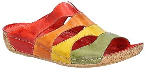 Riva - Sandalias Modelo Ibiza para Mujer (38 EU) (Multicolor)