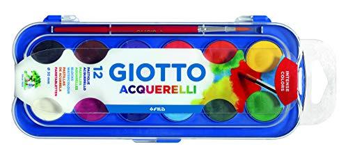 Giotto Confezione 12 Acquerelli ø 30 mm