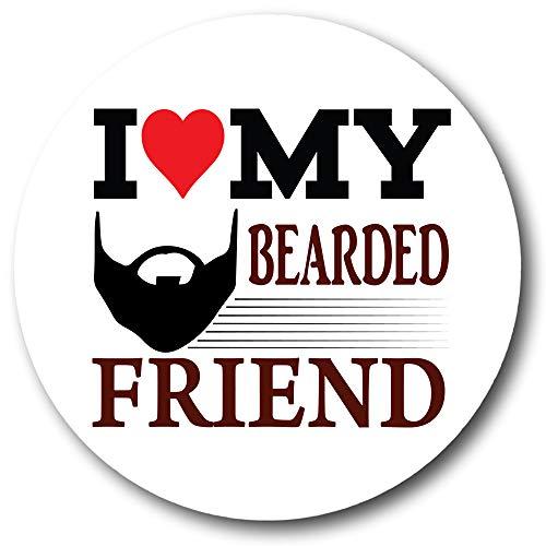 Gifts & Gadgets Co. I Love My Bearded Friend Magnet Flaschenöffner 58 mm Durchmesser groß