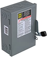 Square D by Schneider Electric D221NCP 30-Amp 240-Volt Two-Pole Indoor General Duty Fusible Safety Switch with Neutral