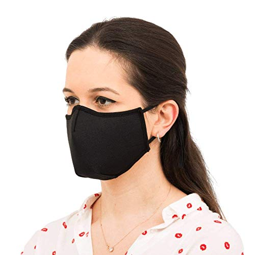 FiveQ Cotton Fabric Mouth Cover With Adjustable Nose Metal Clip, For Women and Men